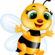 grappige bee cartoon — Stockfoto #18438035