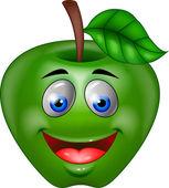 Apple cartoon character — Stock Vector