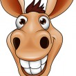 Smiling donkey head — Stock Vector