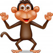 Stock Vector: Happy monkey