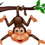 mutlu maymun — Stok Vektör