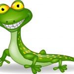 lustige grüne Eidechse cartoon — Stockvektor