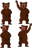 Brown bear cartoon — Vector de stock