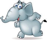 Elephant running — Stock Vector