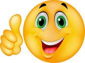 Happy smiley emoticon — Stock Vector