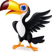 Toucan bird waving — Stock Vector