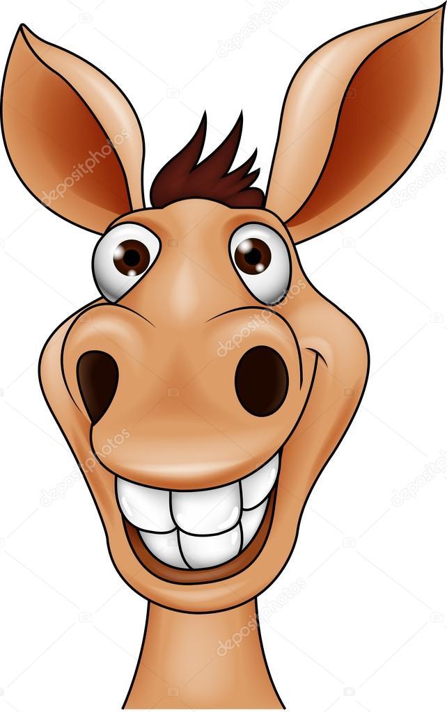 Smiling donkey head — Stock Vector © tigatelu #18810839