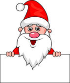 Santa Claus, holding a blank sign — Stock Vector