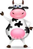 Vaca de dibujos animados — Vector de stock