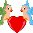 Birds couple in love — Image vectorielle