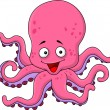 Funny octopus cartoon — Stock Vector