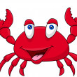 Stock Vector: Happy crab