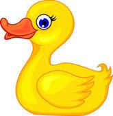 Funny duck cartoon — Stock Vector