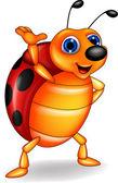 Ladybug cartoon — Stock Vector