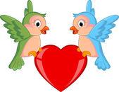 Para ptaków w miłości — Wektor stockowy