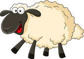 Smiling sheep cartoon — Stock Vector