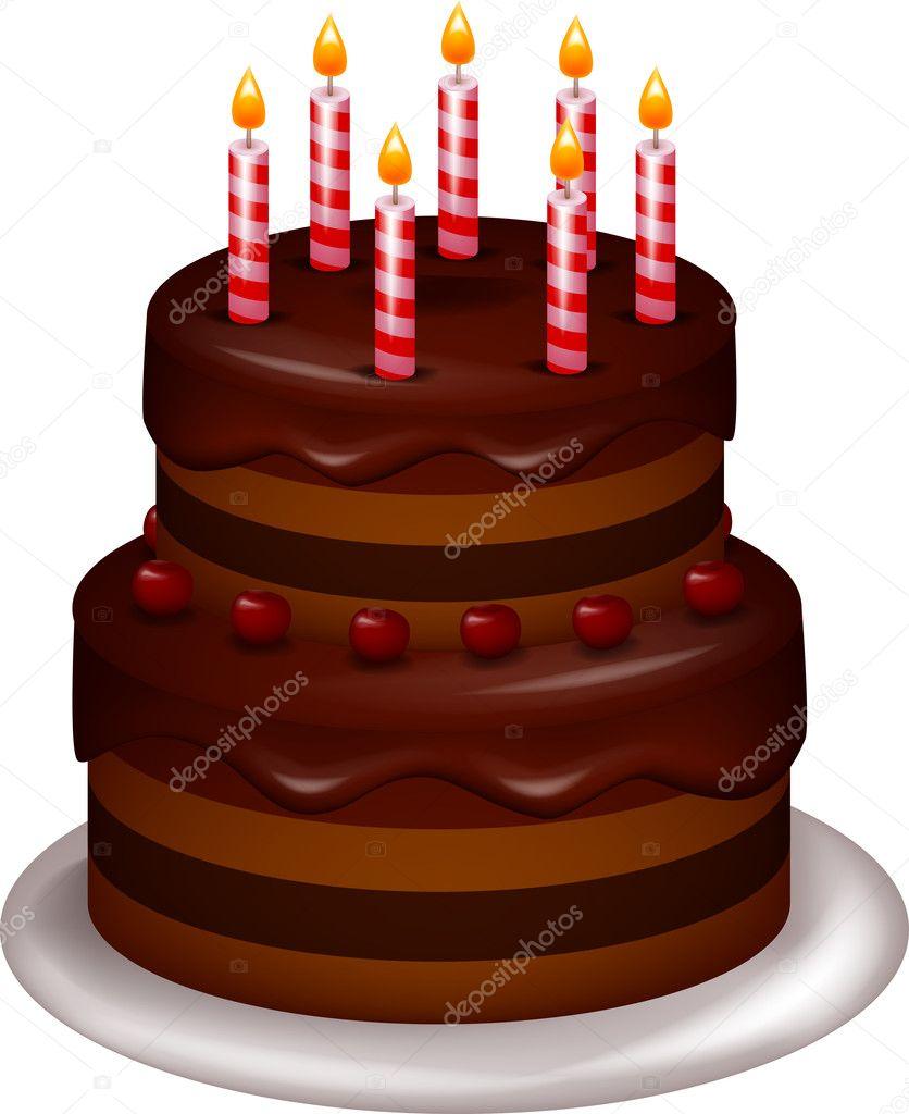 Descargar - Pastel de cumpleaños — Ilustración de stock #19586755