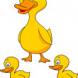 Duck family cartoon — Stock Vector