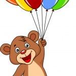 Teddy bear with balloons — Stock Vector