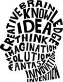 Fikir kavramı — Stok Vektör