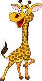 Sevimli zürafa karikatür — Stok Vektör