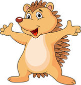 Cute little Hedgehog — Stock Vector