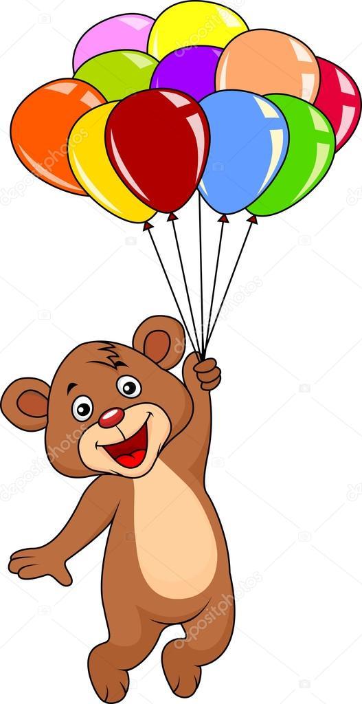 泰迪熊与气球 — 图库矢量图像08