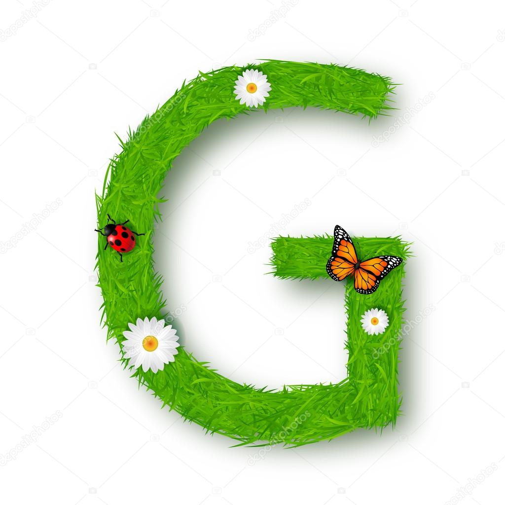 how to make letters in grass