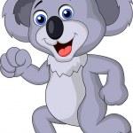Cute koala cartoon running — Stock Vector #23051436