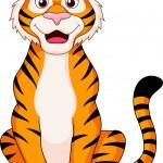 Cute tiger cartoon sitting — Stock Vector #23051566