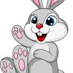 Cute rabbit bunny cartoon sitting — Stock Vector