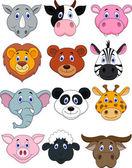 Cartoon animal head icon — Stock Vector