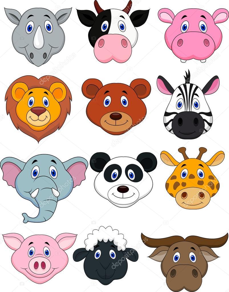 卡通动物头图标