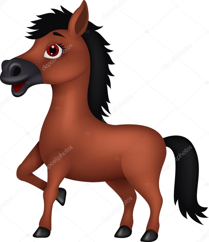 Horse Cartoon of Brown horse cartoon