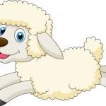 schattig schapen springen — Stockvector  #23938373