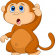 Monkey cartoon thinking — Imagen vectorial