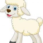 Cute sheep standing — Stock Vector