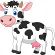 Cow cartoon standing — Stock Vector