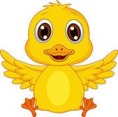 Cute baby duck cartoon — Stock Vector