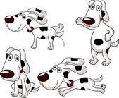 Cute dog cartoon collection — Stock Vector