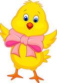 Cute baby chicken cartoon — Stock Vector