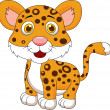 Cute baby jaguar cartoon — Stock Vector