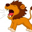 Lion cartoon roaring — Stock Vector