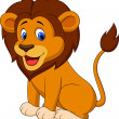 Funny lion cartoon — Imagen vectorial