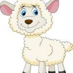 schattig schapen cartoon — Stockvector  #25388683