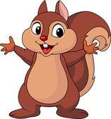 Squirrel cartoon waving hand — Stock Vector