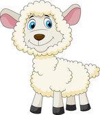 Cute sheep cartoon — Stock Vector