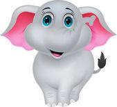 Roztomilý slon kreslený — Stock vektor