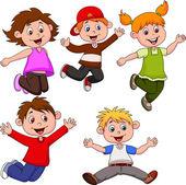Happy children cartoon — Stock Vector