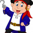 Cute pirate kid cartoon — Imagen vectorial